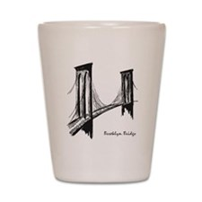 Brooklyn Bridge (Sketch) Shot Glass