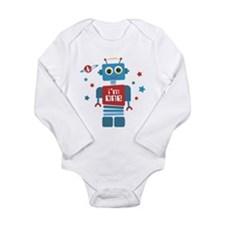 Robot 1st Birthday Long Sleeve Infant Bodysuit