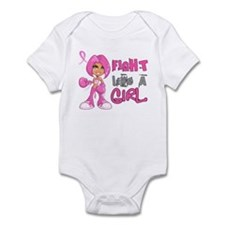 Fight Like a Girl 42.8 Breast Cancer Infant Bodysu