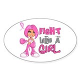 Fight Like a Girl 42.8 Breast Cancer Decal