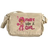 Fight Like a Girl 42.8 Breast Cancer Messenger Bag