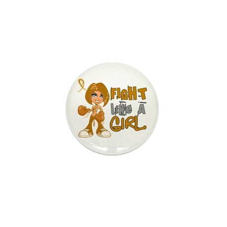 Licensed Fight Like a Girl Mini Button (100 pack)