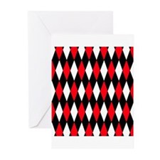 Black Red White Diamonds.jpg Greeting Cards (Pk of