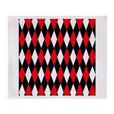 Black Red White Diamonds.jpg Throw Blanket