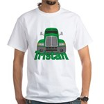 Trucker Tristan White T-Shirt