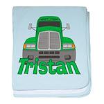 Trucker Tristan baby blanket