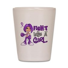 Licensed Fight Like a Girl 42.8 Anorexi Shot Glass