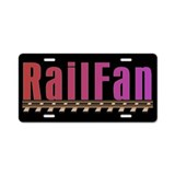 Railfan Aluminum License Plate