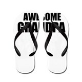 Awesome grandpa Flip Flops