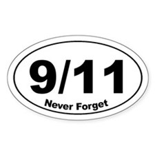 9/11 Never Forget Oval Decal