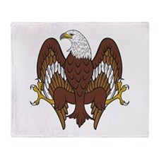 Eagle Displayed Wings Inverted Throw Blanket