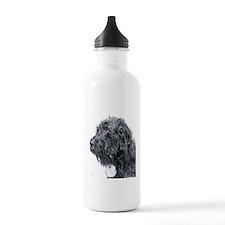 Black Labradoodle 4 Sports Water Bottle