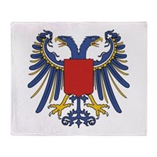 Eagle Two Heads-Shield Throw Blanket