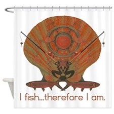 I fish therefore I am. Shower Curtain
