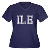 ILE, Vintage, Women's Plus Size V-Neck Dark T-Shir
