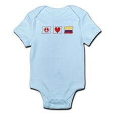 Peace, Love and Colombia Infant Bodysuit