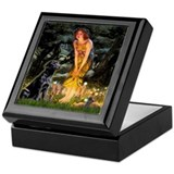 Fairies & Black Lab Keepsake Box
