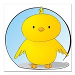 Whee! Chick v2.0 Square Car Magnet 3