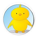 Whee! Chick v2.0 Round Car Magnet