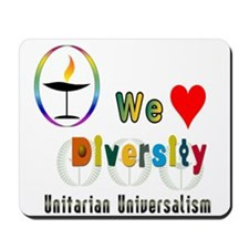 UU We Love Diversity.png Mousepad