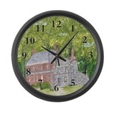 Manor House in Spring Large Wall Clock