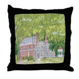 Manor House in Spring Throw Pillow