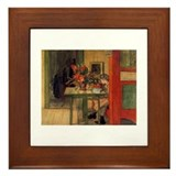 The Reader, Carl Larsson Framed Tile