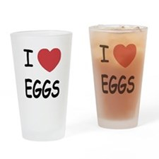 I heart eggs Drinking Glass