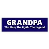 Grandpa The Legend Bumper Bumper Stickers
