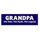 Grandpa The Legend Bumper Car Sticker