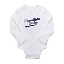 Cute Childbirth Long Sleeve Infant Bodysuit