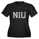 NIU, Vintage, Women's Plus Size V-Neck Dark T-Shir