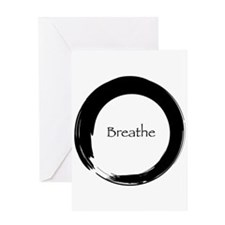 Enso with Breathe Greeting Card