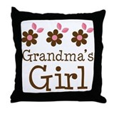 Grandma's Girl Daisies Throw Pillow