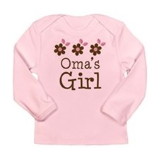 Oma's Girl Daisies Long Sleeve Infant T-Shirt