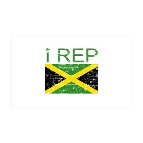 I Rep Jamaica 38.5 x 24.5 Wall Peel