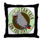 I Can Talk, Can You Fly: African Grey Timneh Throw