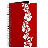 """Hibiscus Stripe"" (Red/White) Journal"