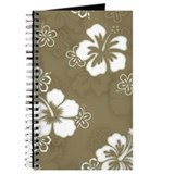 """Hibiscus Pattern"" (Khaki) Journal"