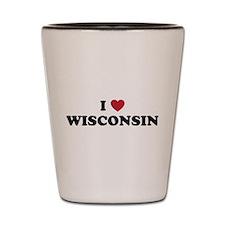 Unique Wisconsin badgers Shot Glass