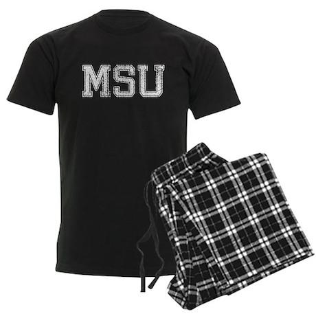 MSU, Vintage, Men's Dark Pajamas