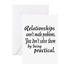 Castle Relationships Quote Greeting Cards (Pk of 2