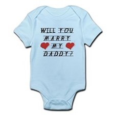Will you marry? Infant Bodysuit