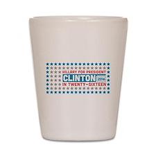 Starry Hillary for President 2016 Shot Glass