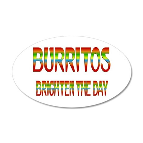 Burritos Brighten 38.5 x 24.5 Oval Wall Peel