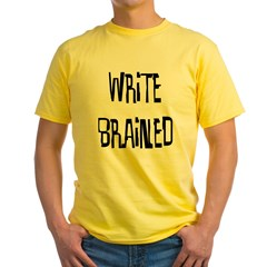 Write Brained - Yellow T-Shirt