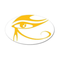 Eye of Ra Gold.png 22x14 Oval Wall Peel