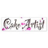 Cake Artist Car Sticker