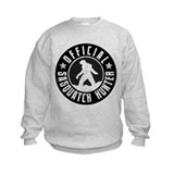 Sasquatch Hunter - White on Black Sweatshirt
