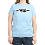 San Francisco: Loves Me Women's Pink T-Shirt